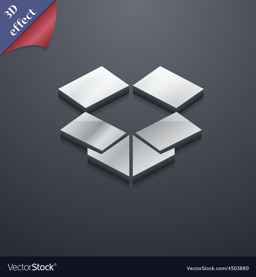 Open box icon symbol 3d style trendy modern design vector | Price: 1 Credit (USD $1)