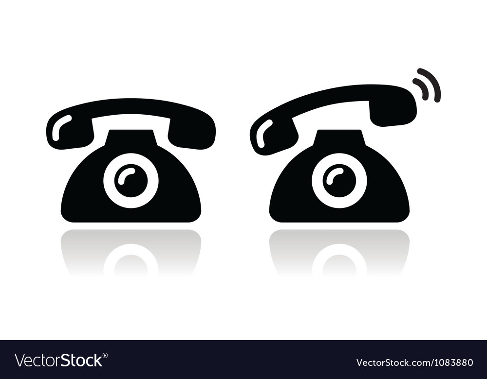 Ringing phone - contat icons set vector | Price: 1 Credit (USD $1)