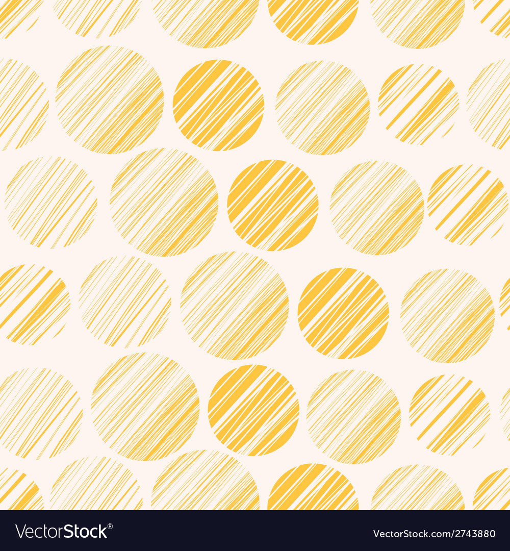 Seamless pattern with hand drawn polka dot vector | Price: 1 Credit (USD $1)