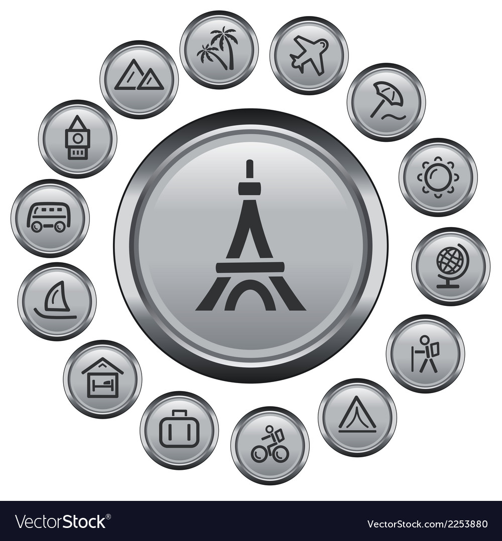 Travel buttons vector | Price: 1 Credit (USD $1)