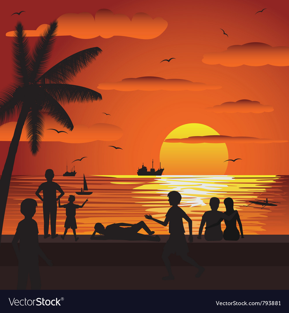 Beach vector | Price: 1 Credit (USD $1)