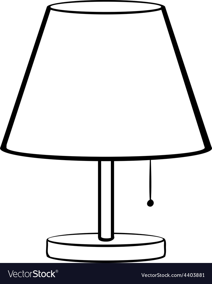 Bed lamp vector | Price: 1 Credit (USD $1)