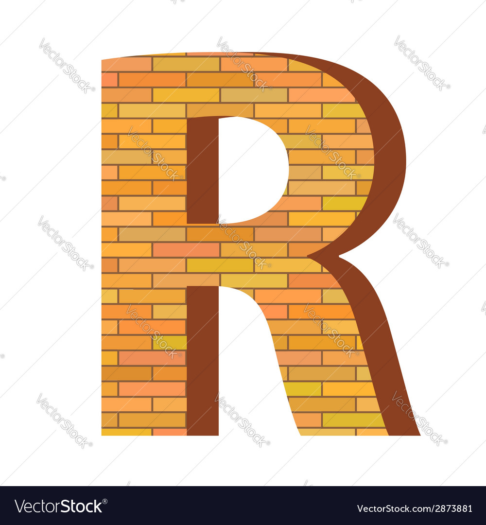 Brick letter r vector | Price: 1 Credit (USD $1)