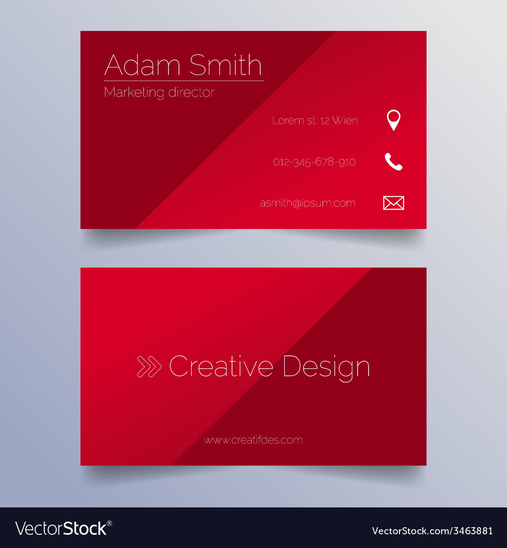 Business card template - sleek red design vector | Price: 1 Credit (USD $1)