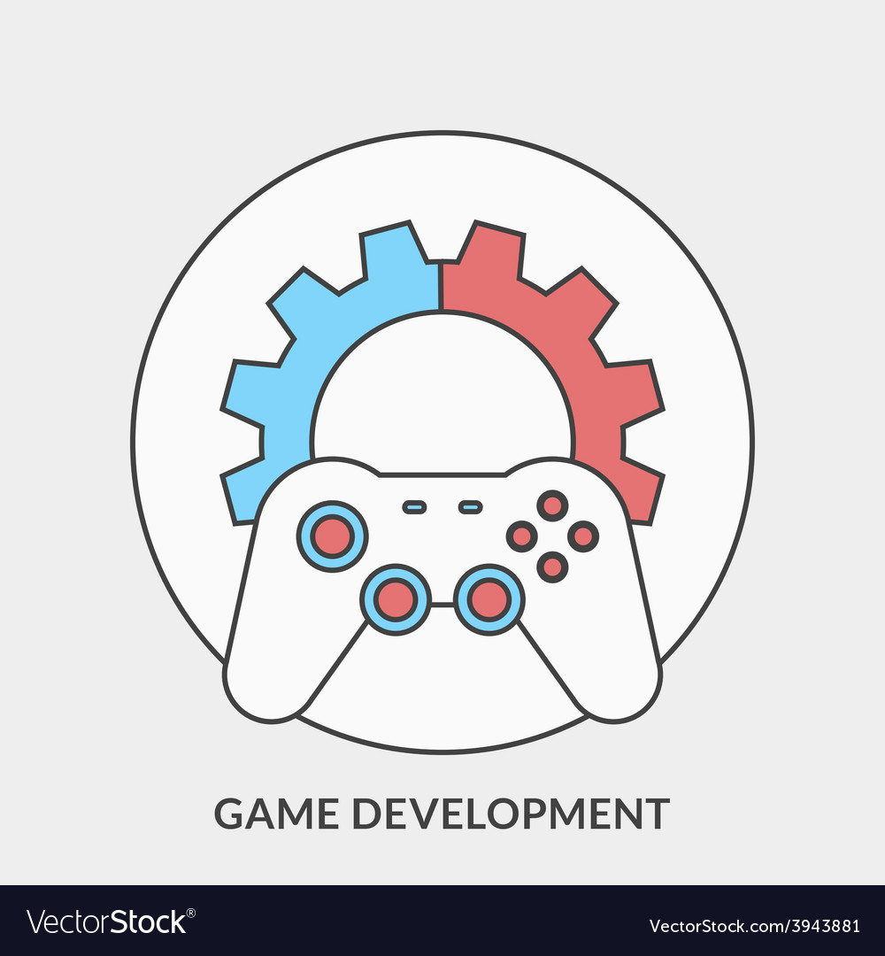 Flat design concept for game development fo vector | Price: 1 Credit (USD $1)