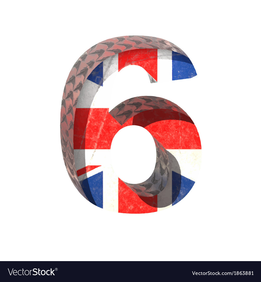 Great britain cutted figure 6 paste to any vector | Price: 1 Credit (USD $1)