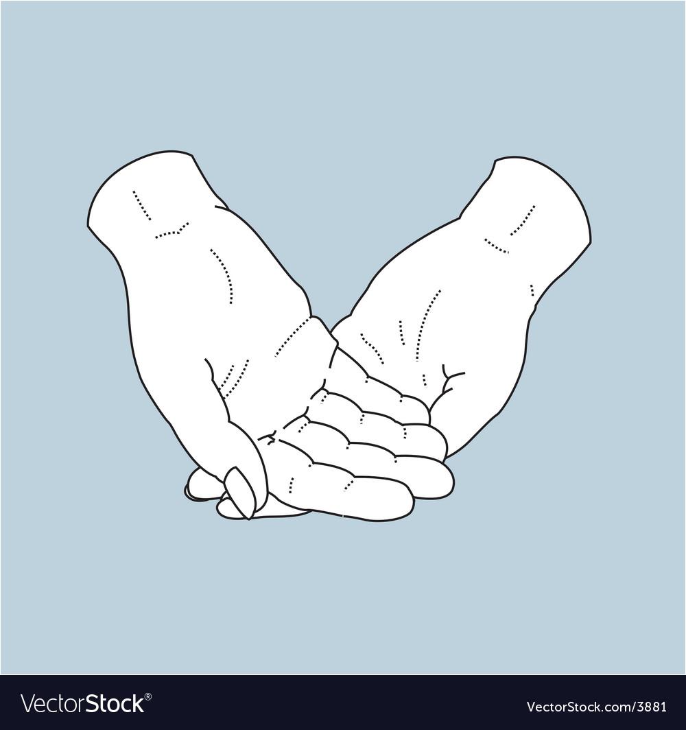 Helping hands vector   Price: 1 Credit (USD $1)