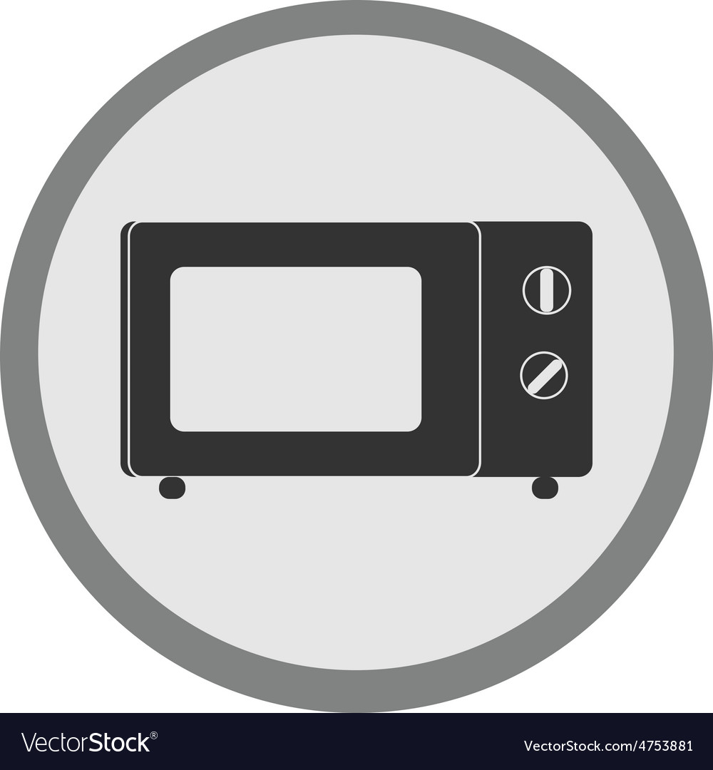 Microwave icon vector | Price: 1 Credit (USD $1)