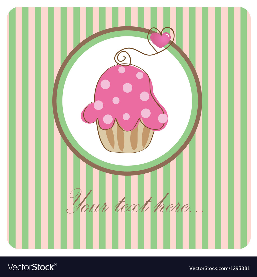 Piece of cake cupcake vector | Price: 1 Credit (USD $1)