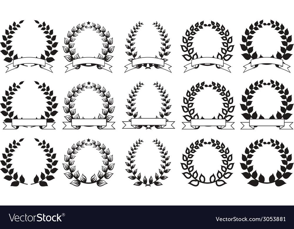 Set of elegant round frames eps8 vector | Price: 1 Credit (USD $1)