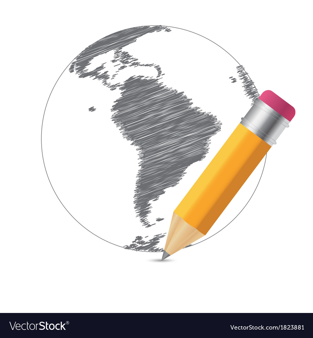 World sketch map infographic buiness template vector | Price: 1 Credit (USD $1)
