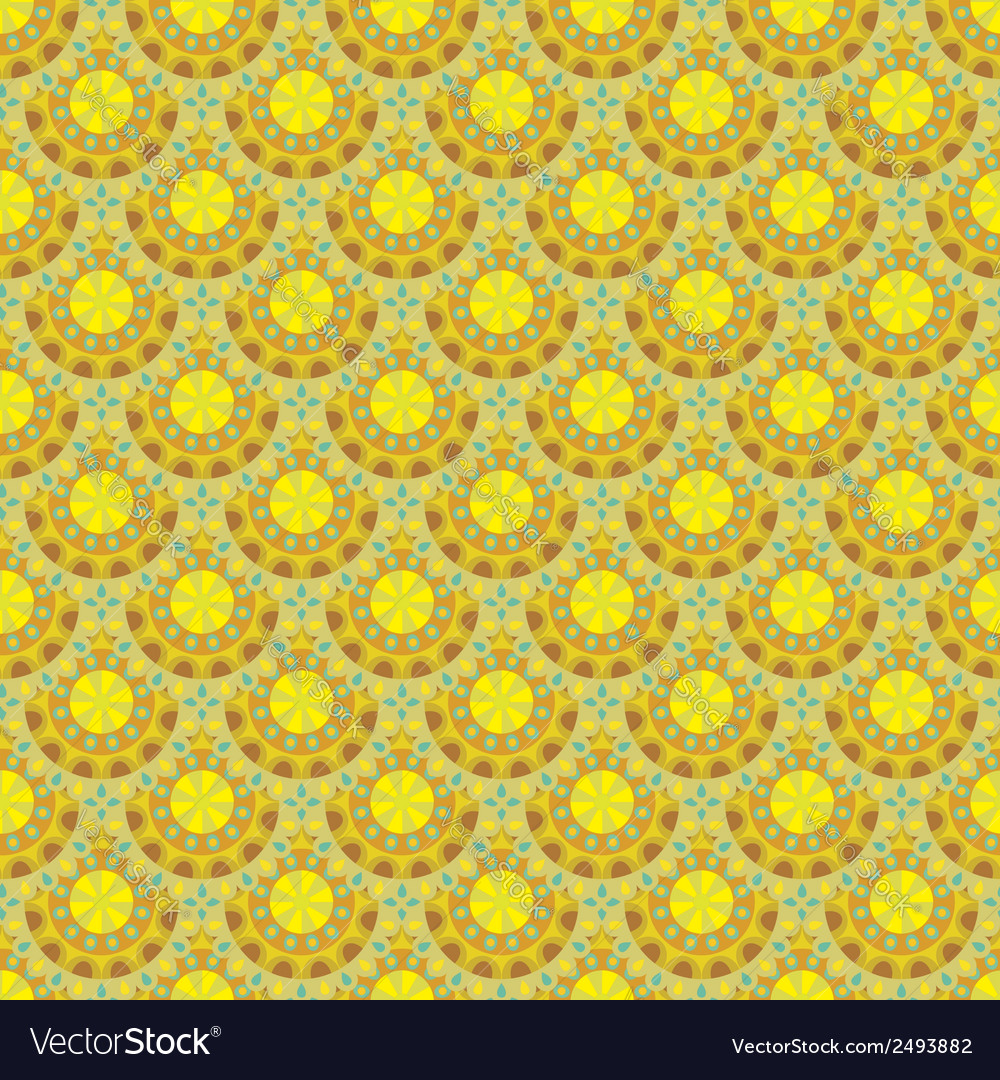 Abstract floral ethnic background seamless pattern vector | Price: 1 Credit (USD $1)