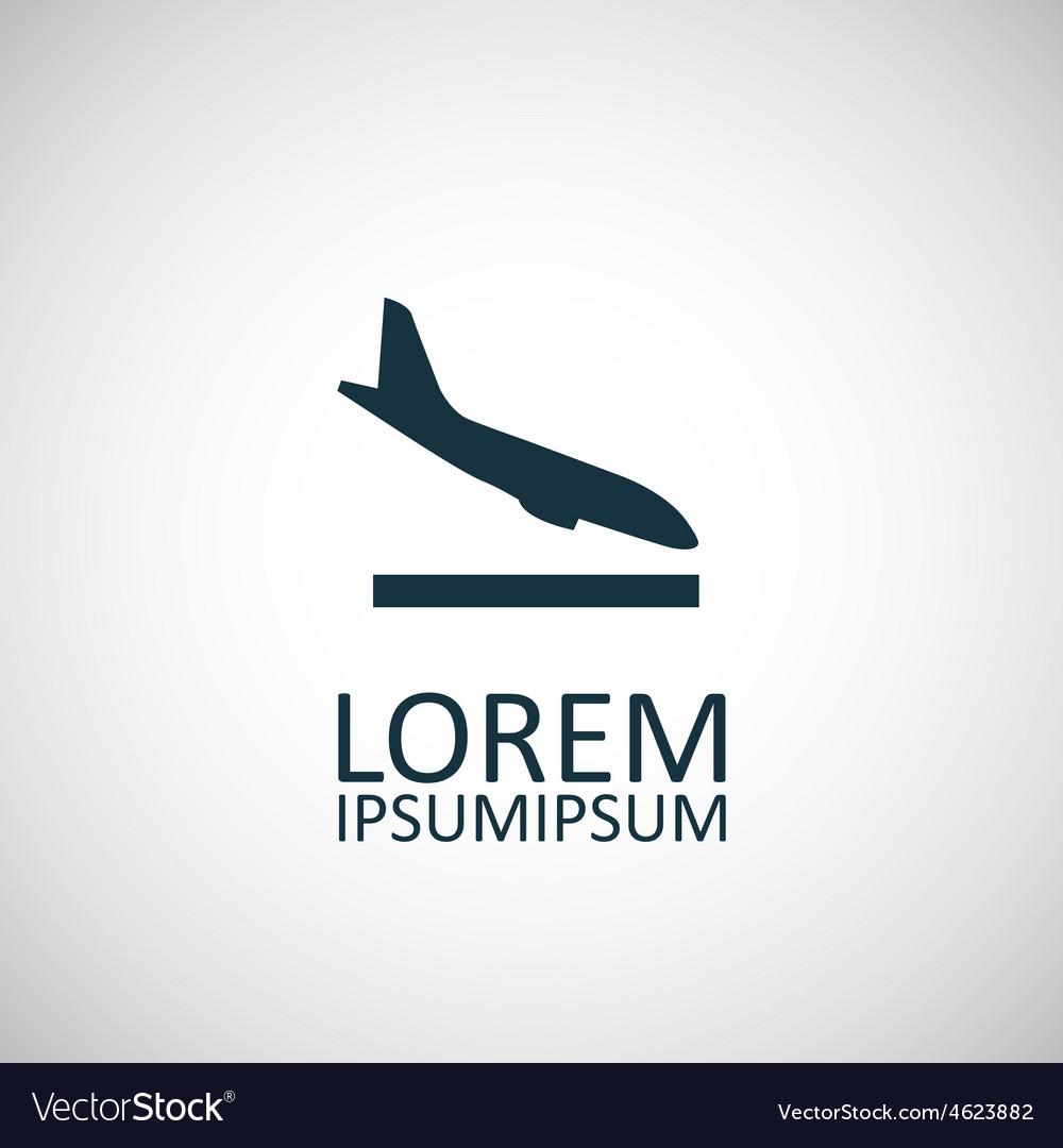 Airplane landing icon vector | Price: 1 Credit (USD $1)