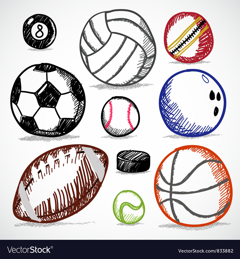 Ball sport doodles vector | Price: 1 Credit (USD $1)