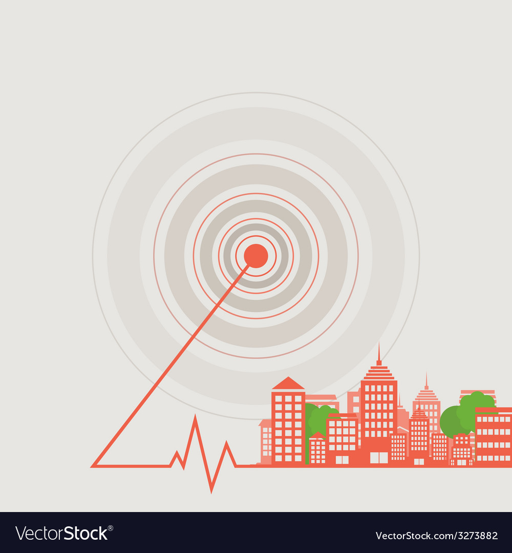 City a wave vector | Price: 1 Credit (USD $1)