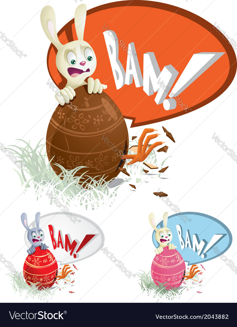 Easter egg surprise vector | Price: 1 Credit (USD $1)