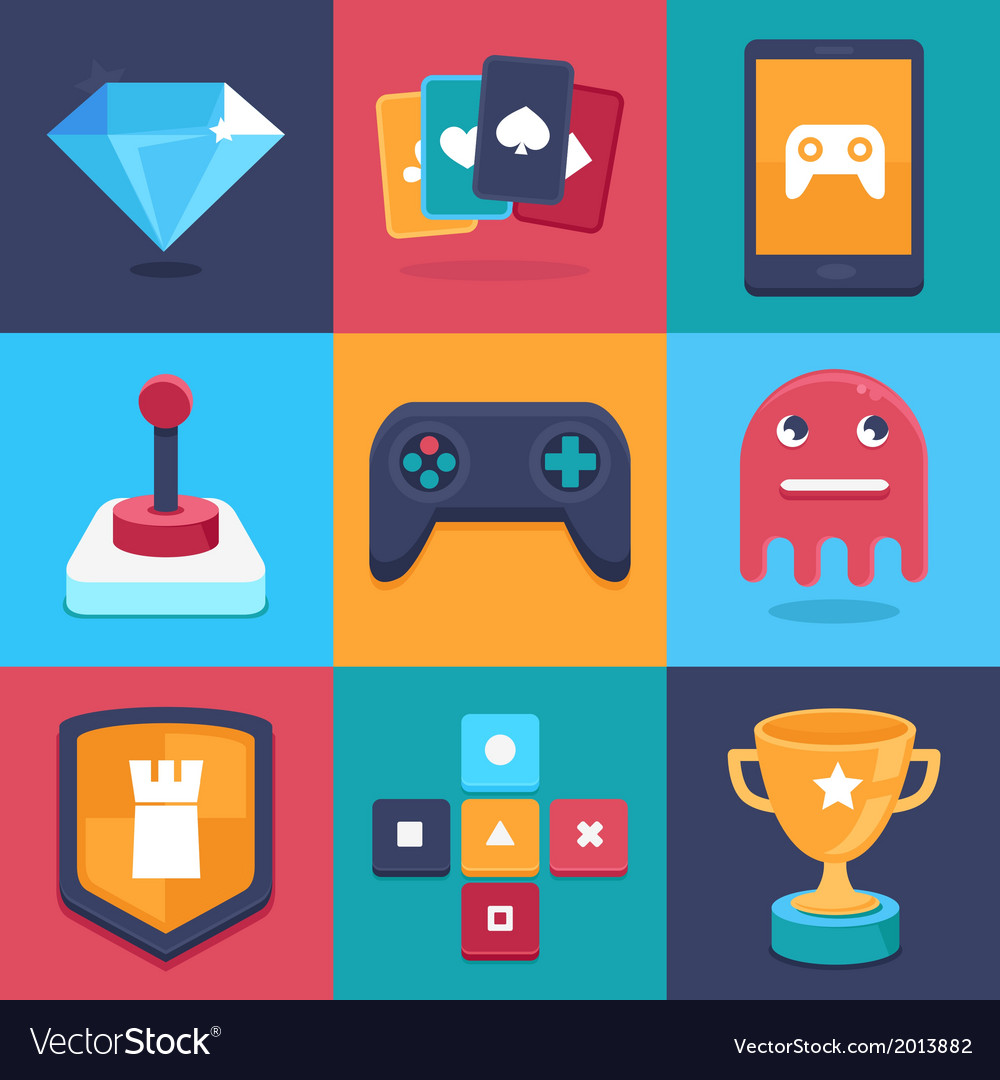 Games signs vector | Price: 1 Credit (USD $1)