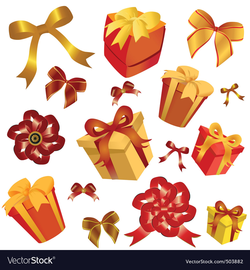 Gift box and ribbon vector | Price: 1 Credit (USD $1)