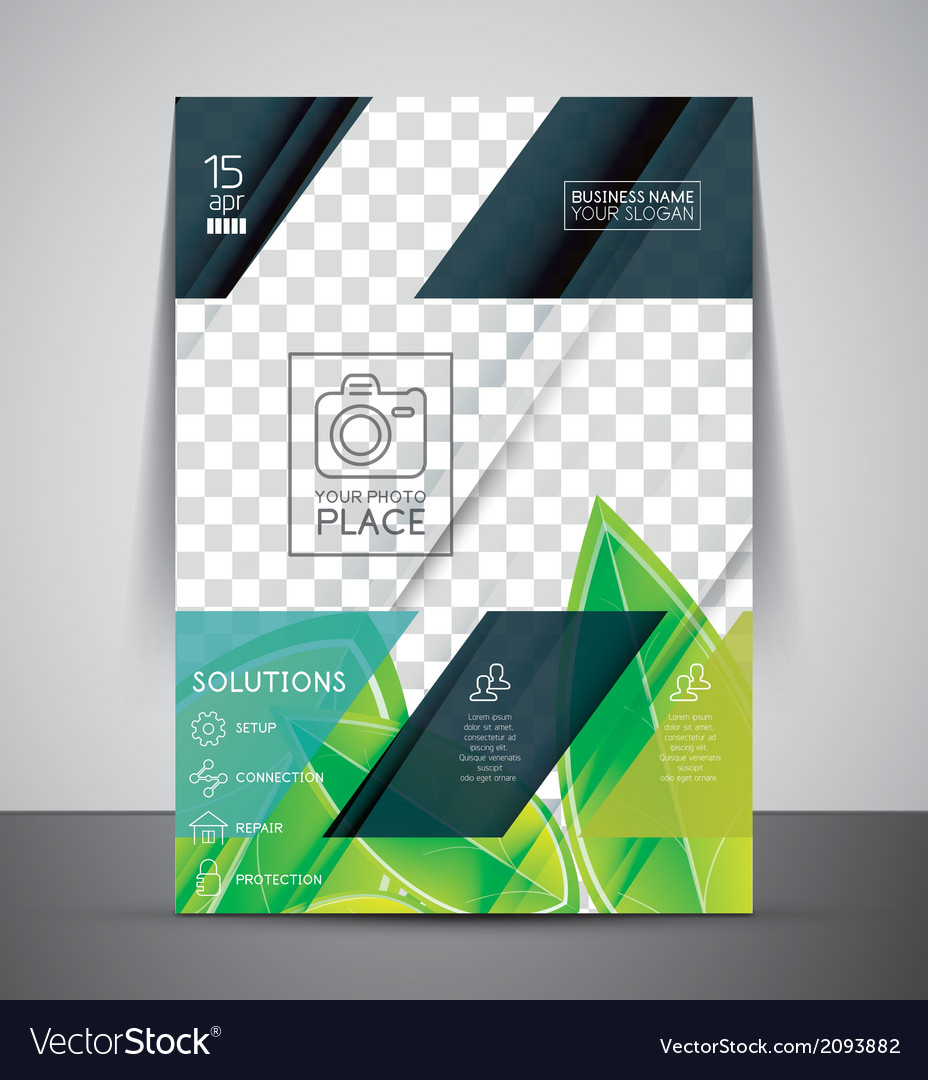Green nature concept print template vector | Price: 1 Credit (USD $1)