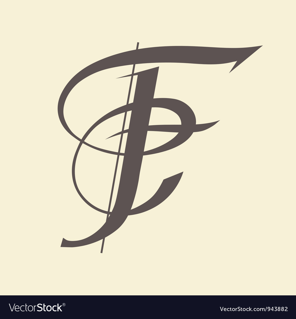 Letter f vector | Price: 1 Credit (USD $1)