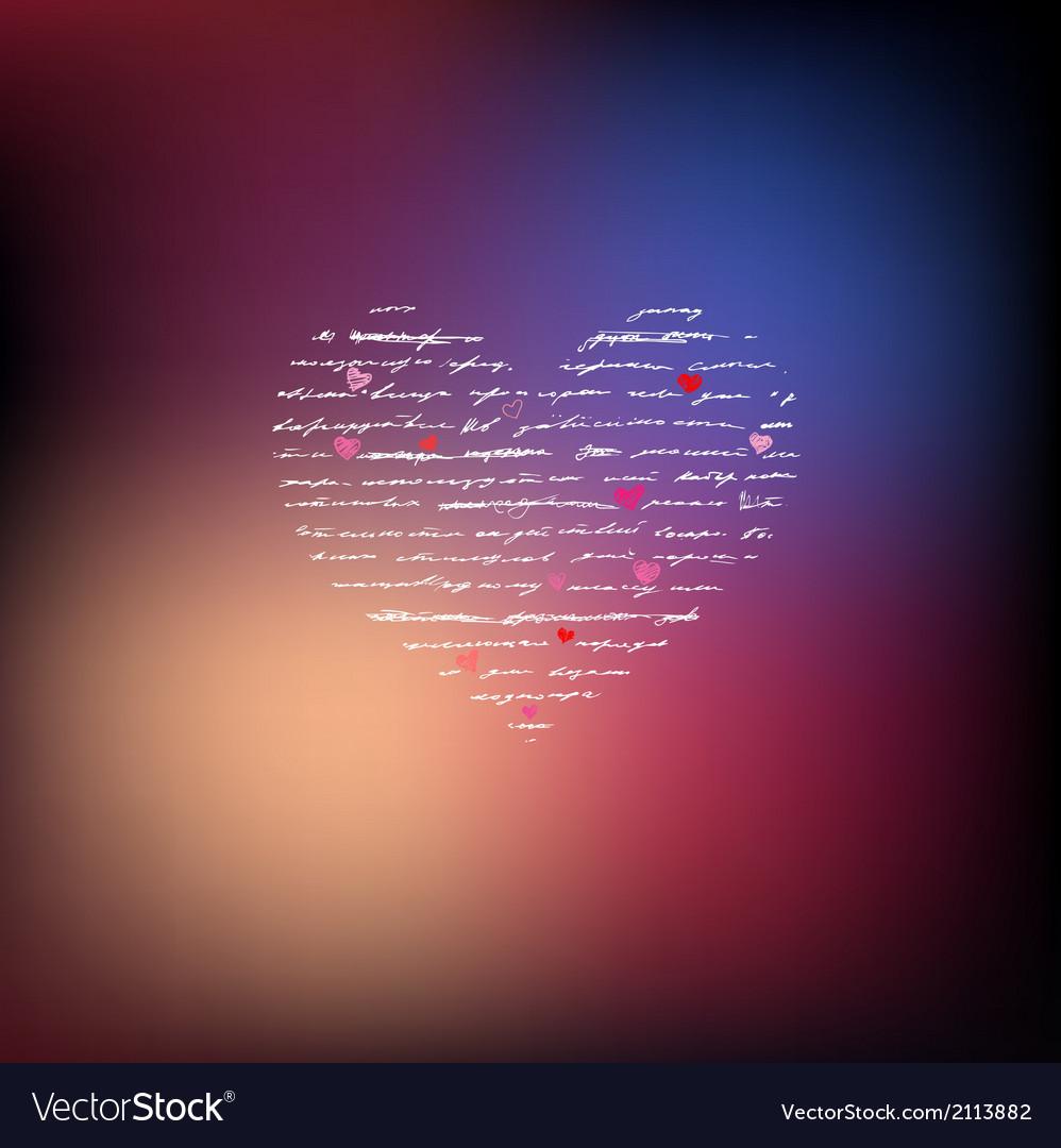 Love handwriting card vector | Price: 1 Credit (USD $1)
