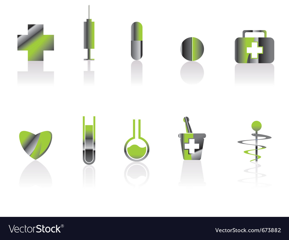 Medical and healt care icons vector | Price: 1 Credit (USD $1)