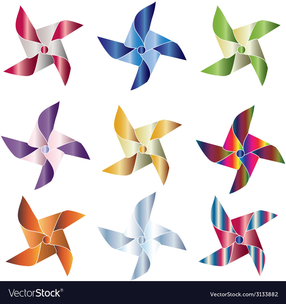 Pinwheels vector | Price: 1 Credit (USD $1)
