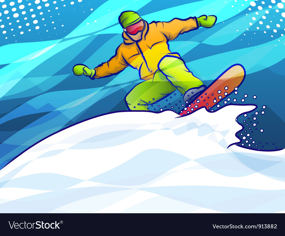Snowboard jump vector | Price: 3 Credit (USD $3)