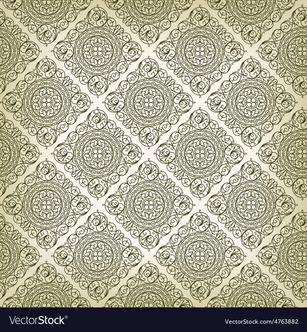 Vintage art deco style seamless pattern texture vector | Price: 1 Credit (USD $1)