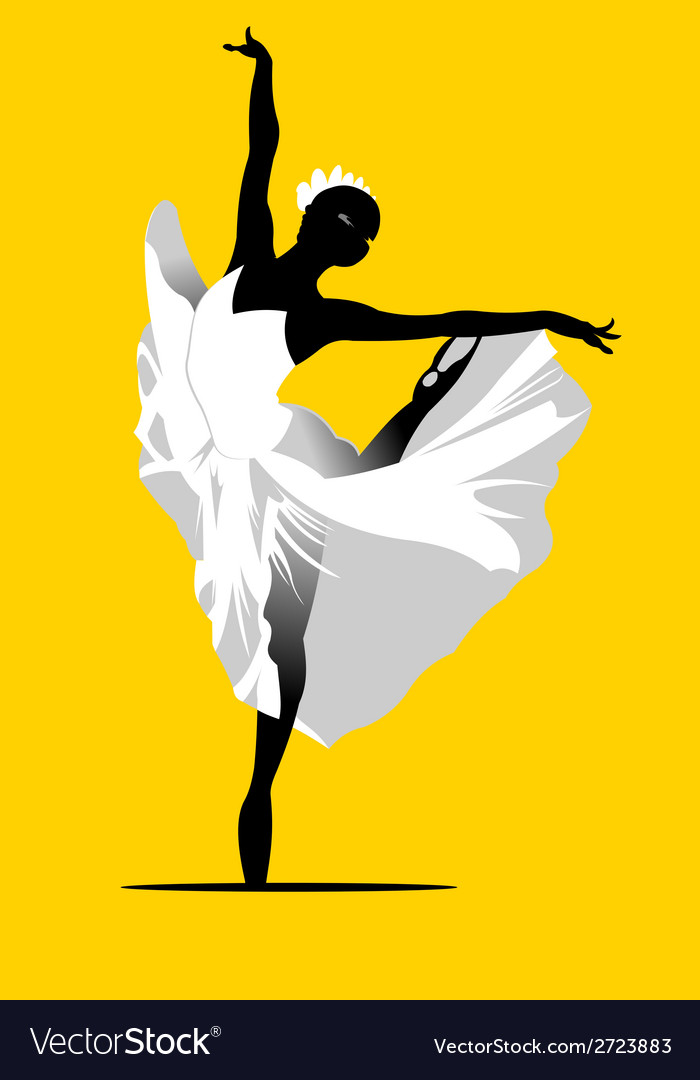 Ballerina dancing vector | Price: 1 Credit (USD $1)