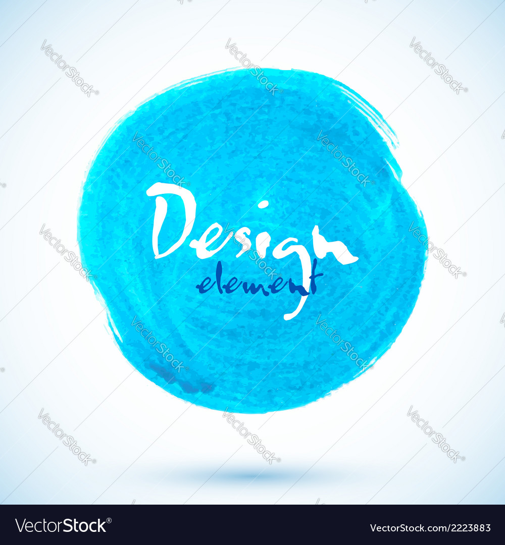 Blue isolated acrylic painted circle vector | Price: 1 Credit (USD $1)
