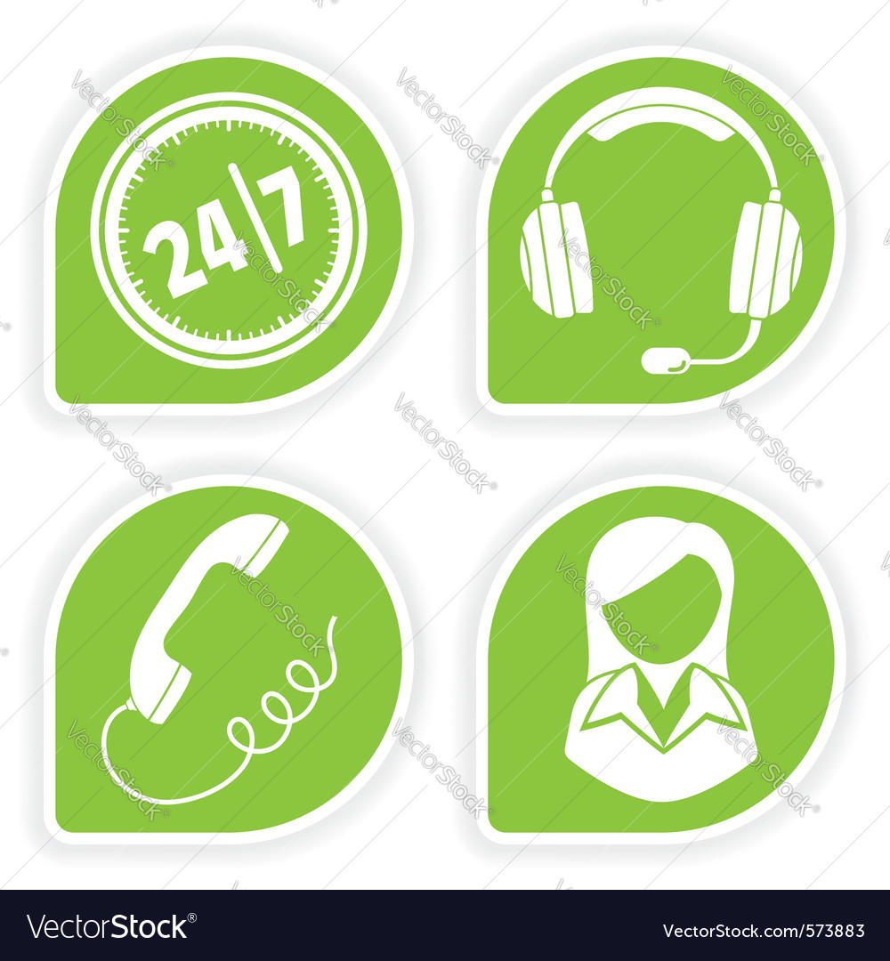 Business support icons vector | Price: 1 Credit (USD $1)