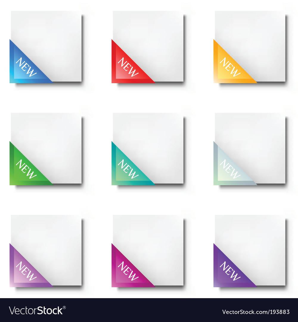 Corner ribbon vector | Price: 1 Credit (USD $1)