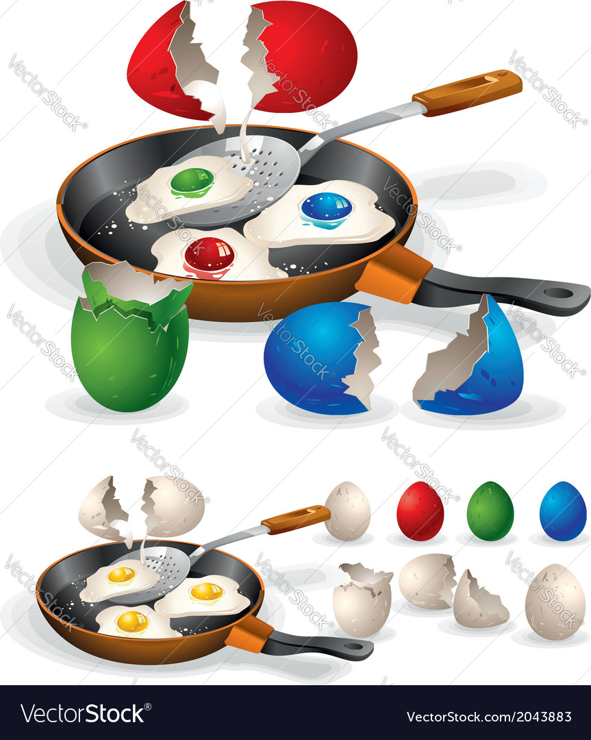 Easter fried eggs vector | Price: 1 Credit (USD $1)