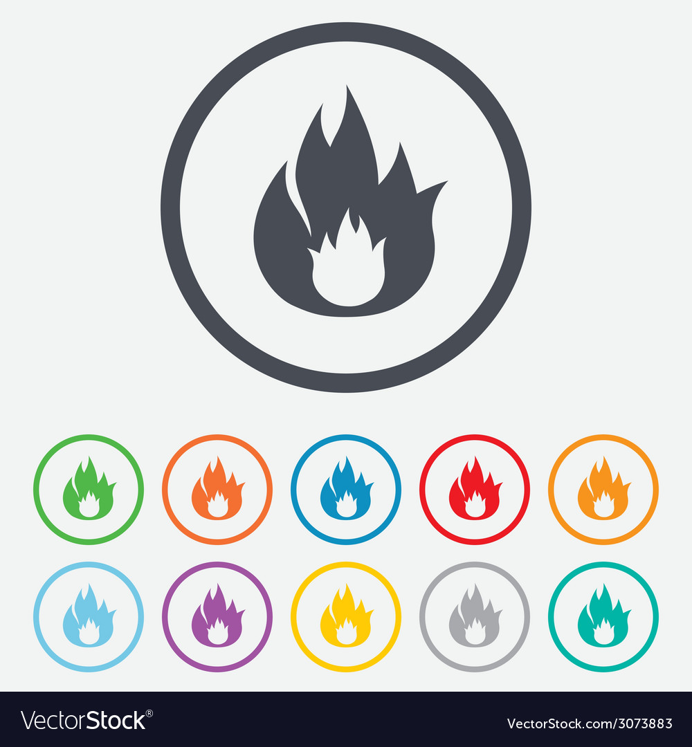 Fire flame sign icon fire symbol vector | Price: 1 Credit (USD $1)