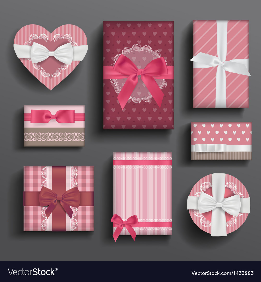Girly boxes and bows vector | Price: 1 Credit (USD $1)
