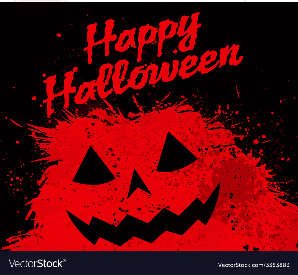Grunge halloween pumpkin background vector | Price: 1 Credit (USD $1)