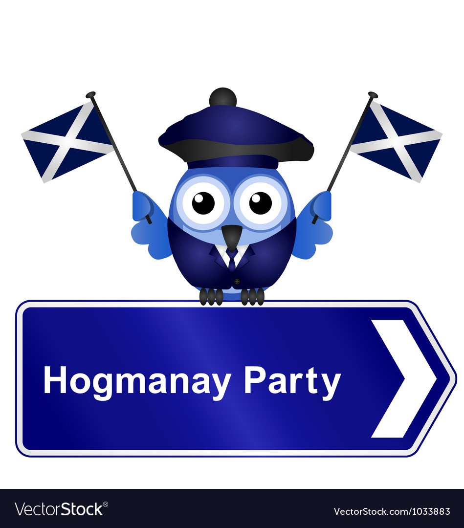 Hogmanay party sign vector | Price: 1 Credit (USD $1)