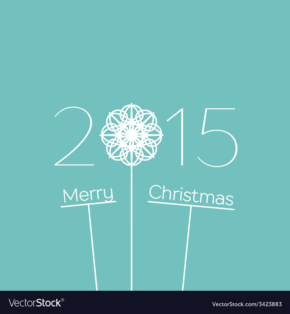 Merry christmas 2015 background vector | Price: 1 Credit (USD $1)