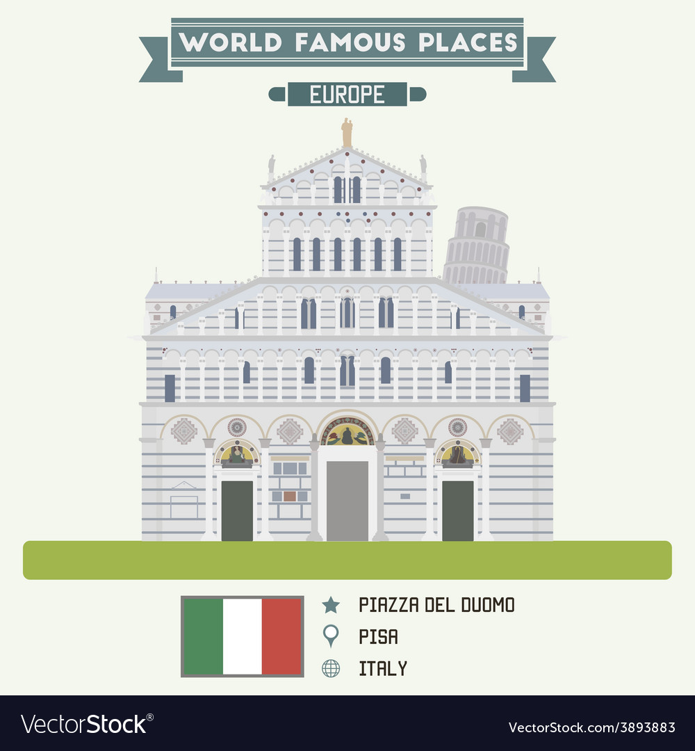 Piazza del duomo pisa vector | Price: 1 Credit (USD $1)