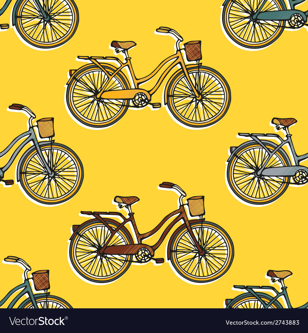 Seamless pattern with bicycles vector | Price: 1 Credit (USD $1)