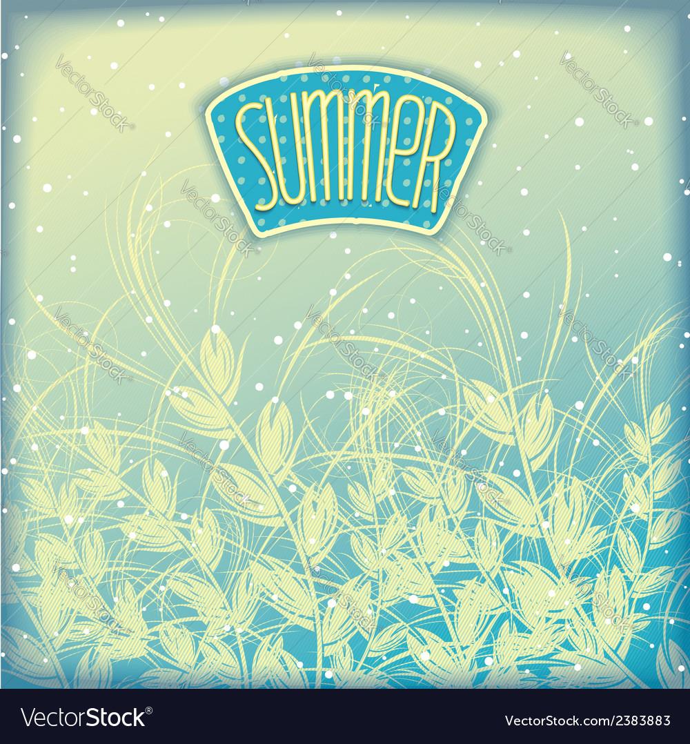 Seasonal summer airy background vector | Price: 1 Credit (USD $1)