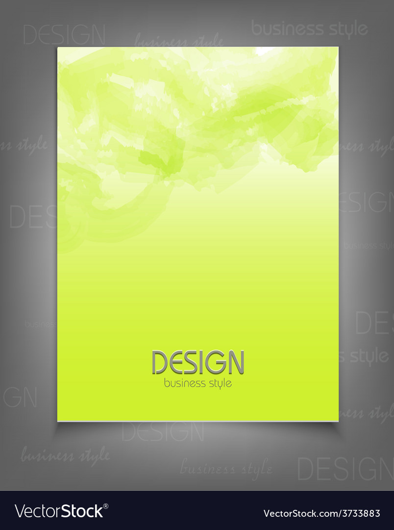 Template for a business with a green strokes vector   Price: 1 Credit (USD $1)