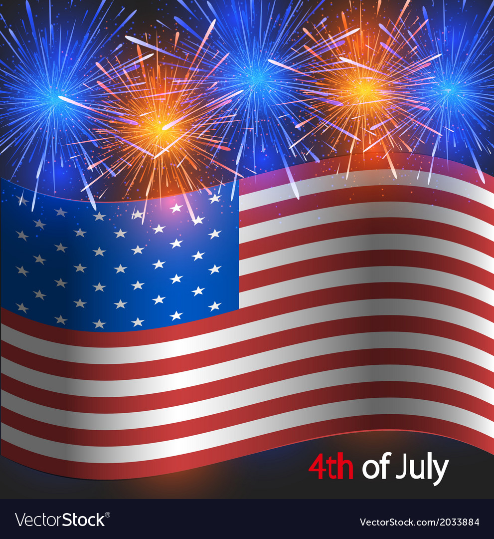 4th of july background independence day vector | Price: 1 Credit (USD $1)