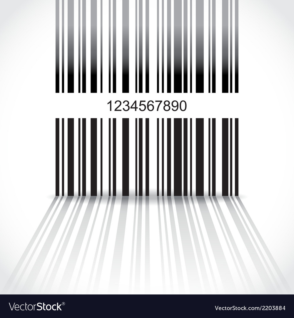 Barcode background vector | Price: 1 Credit (USD $1)