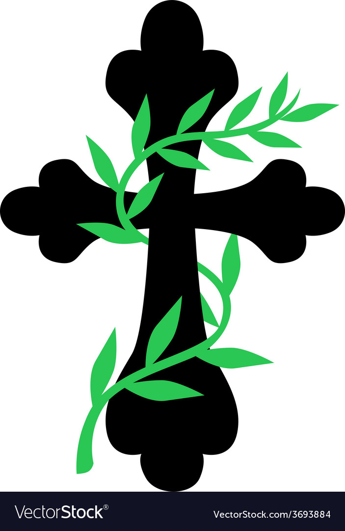 Cross vine vector | Price: 1 Credit (USD $1)