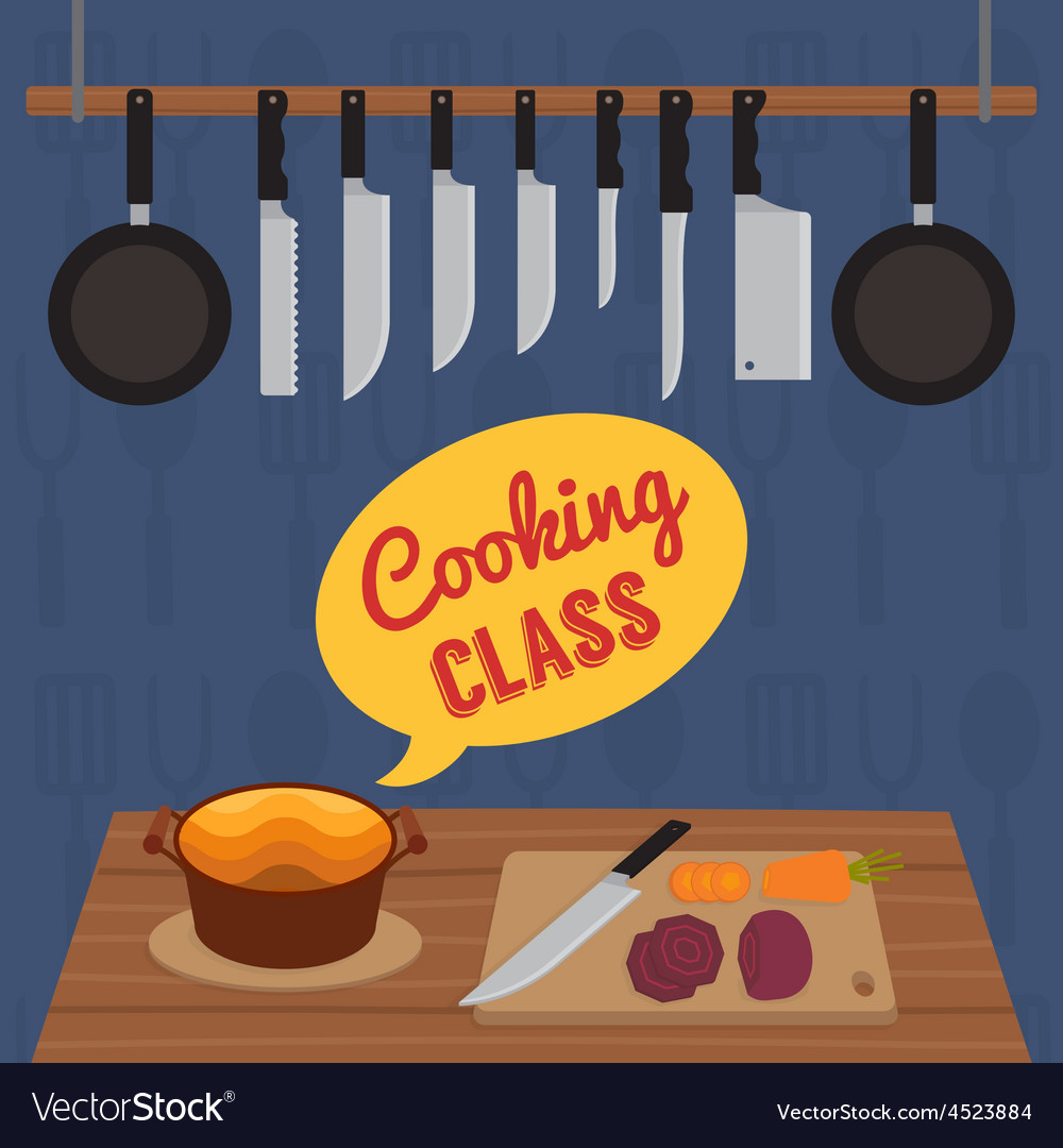 Culinary cooking class vector | Price: 1 Credit (USD $1)