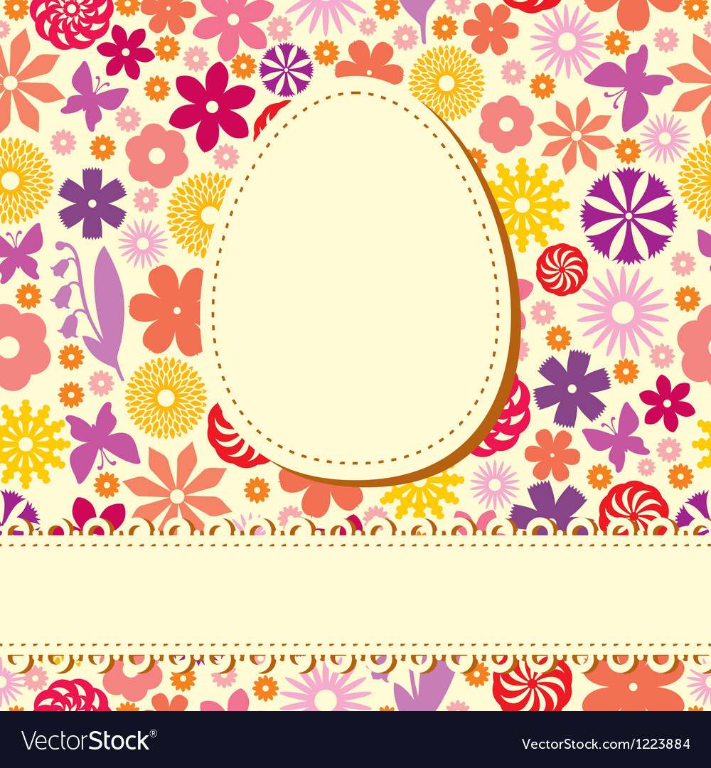 Easter flower background vector | Price: 1 Credit (USD $1)