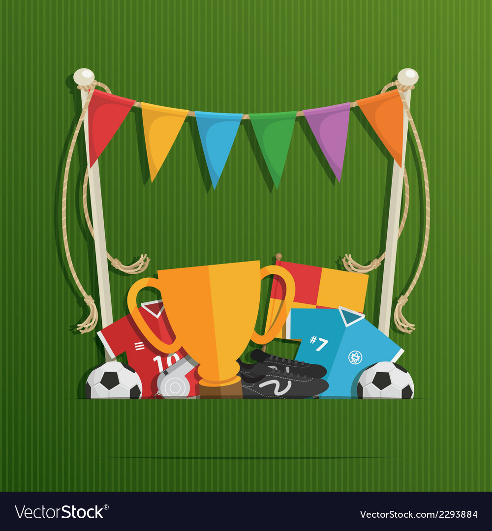 Football decoration vector | Price: 1 Credit (USD $1)