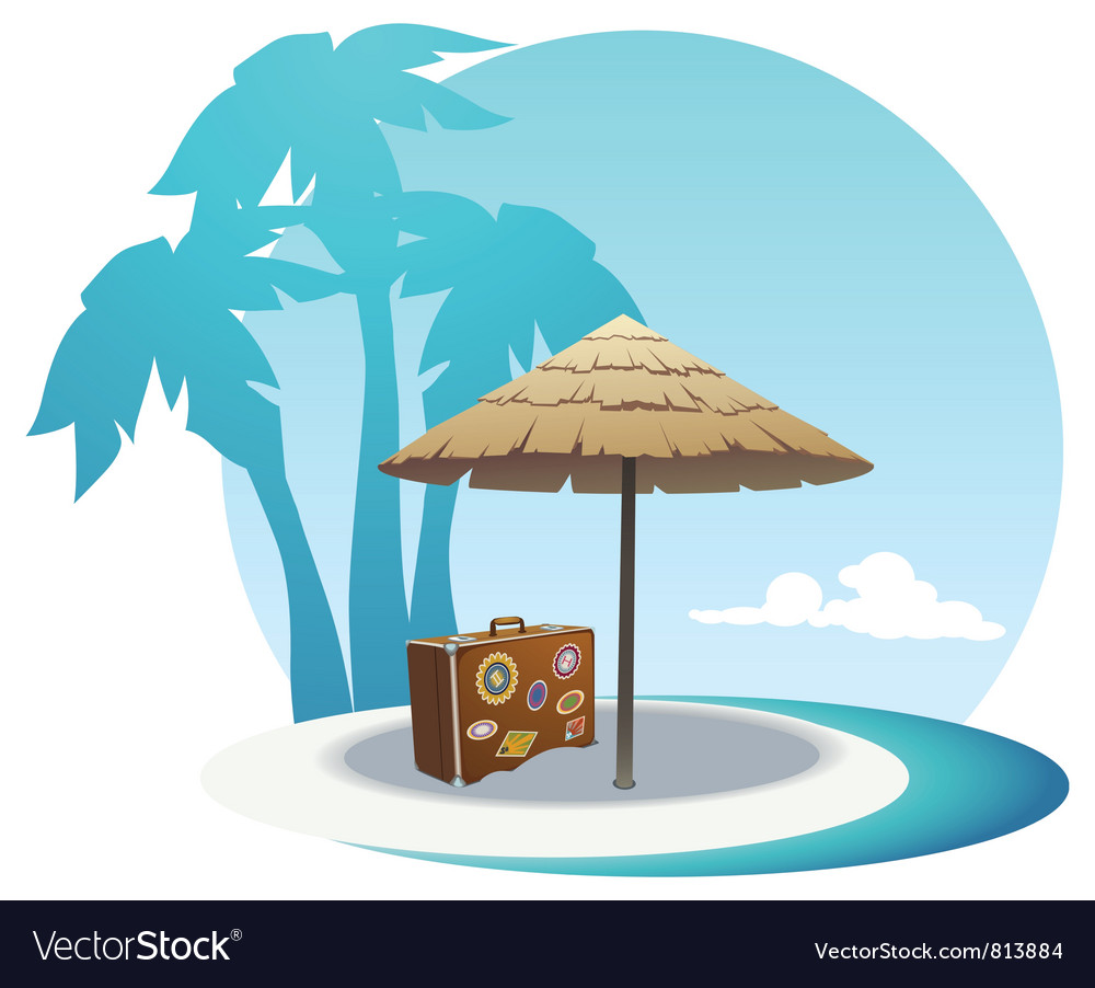 Island coast vector | Price: 3 Credit (USD $3)